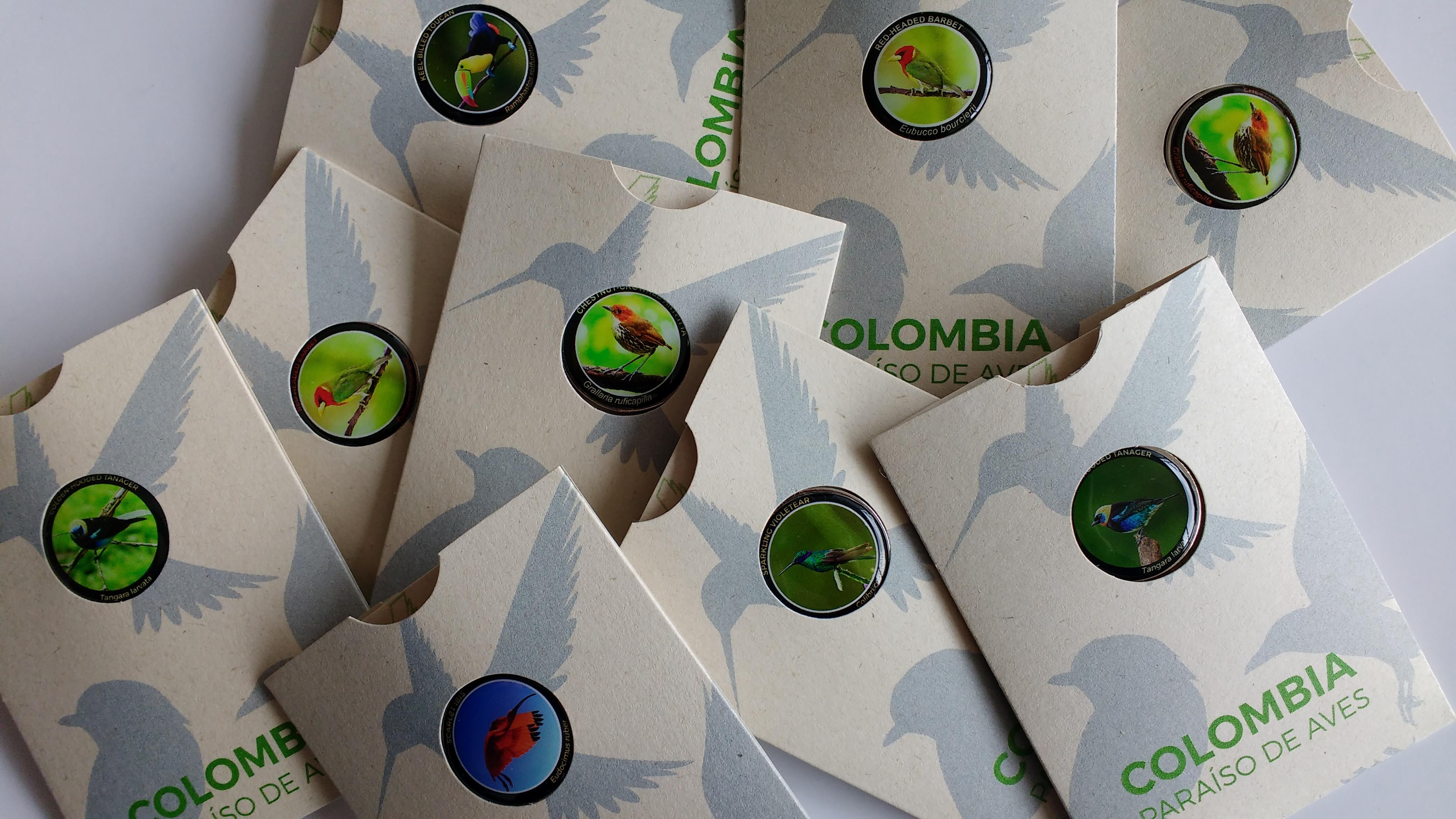 Pines de aves de Colombia